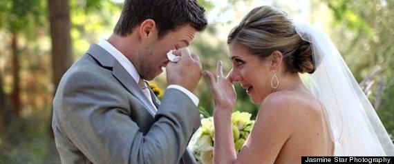 Emoción en la boda. Lloros en la ceremonia.
