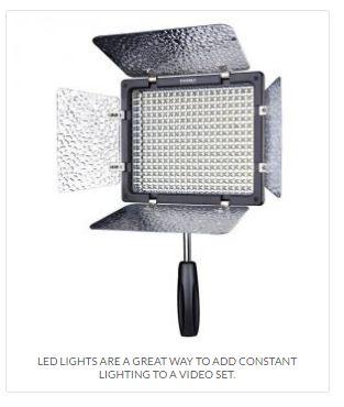 Ejemplo iluminación móvil. Antorcha de leds para video y fotografía.