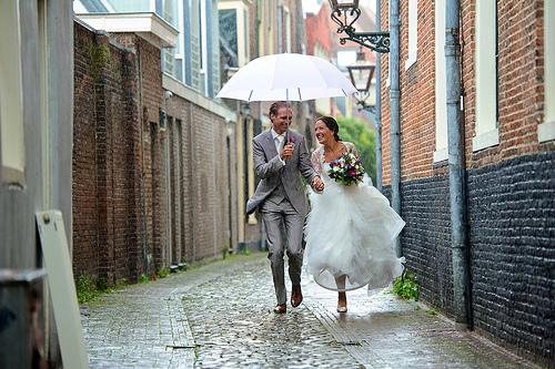 boda con lluvia