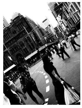 Foto calle con Smartphone.