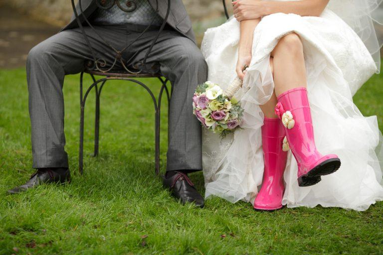 botas de agua para novias